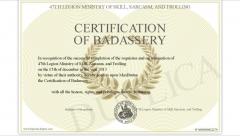 Max's Badass Certification