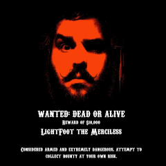 Lightfoot Wanted Poster