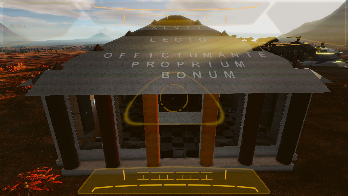 Roof of Empyrion HQ for PVE.