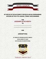 Legionary of the Month!