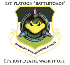 1st Platoon Badge with a motto for PVP.