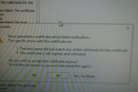 Failed cert before install