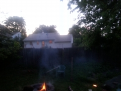 Outside fire.