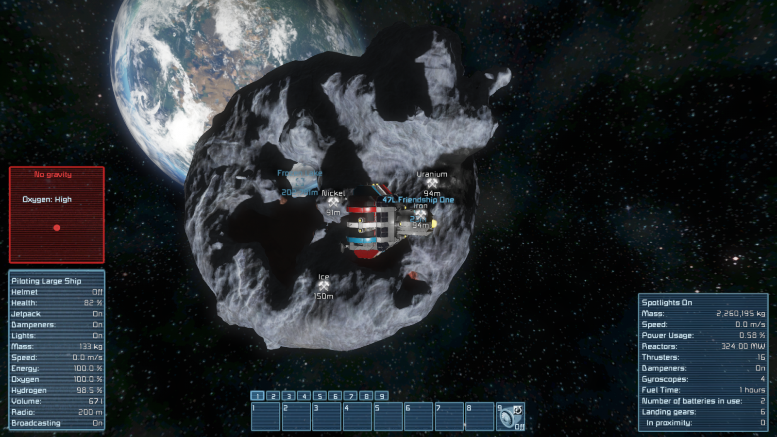 Another view from the asteroid.
