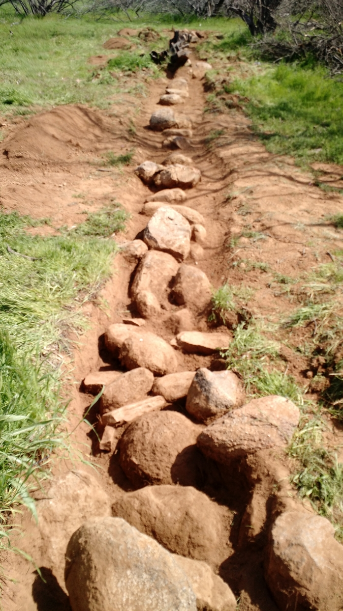 Wall trench.
