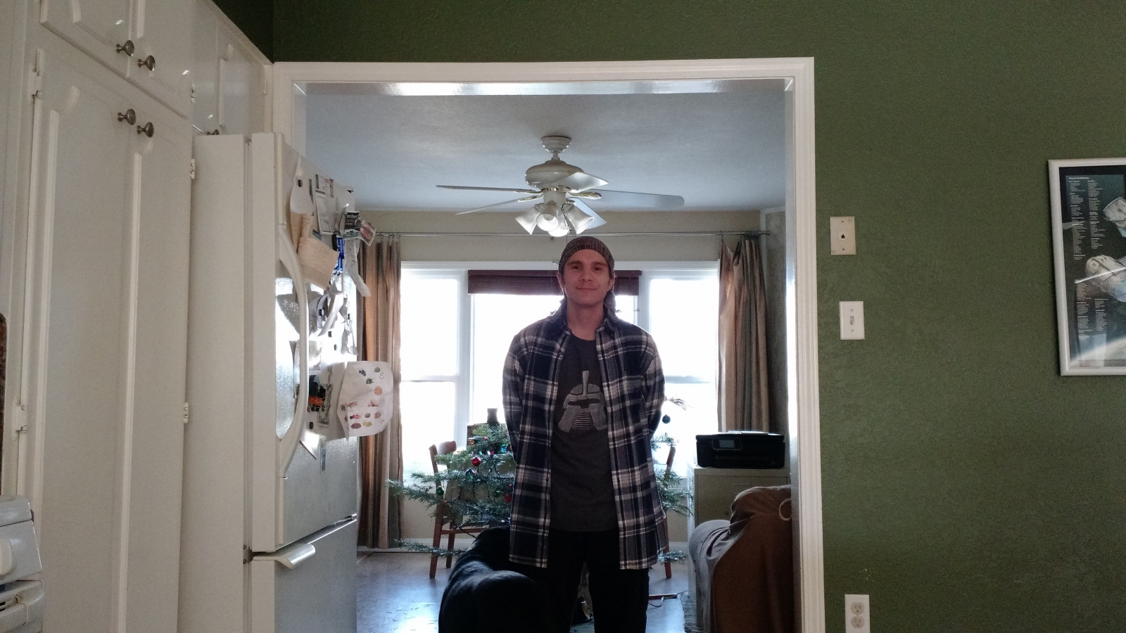 My new tee shirt and flannel shirt from Xmas 16'