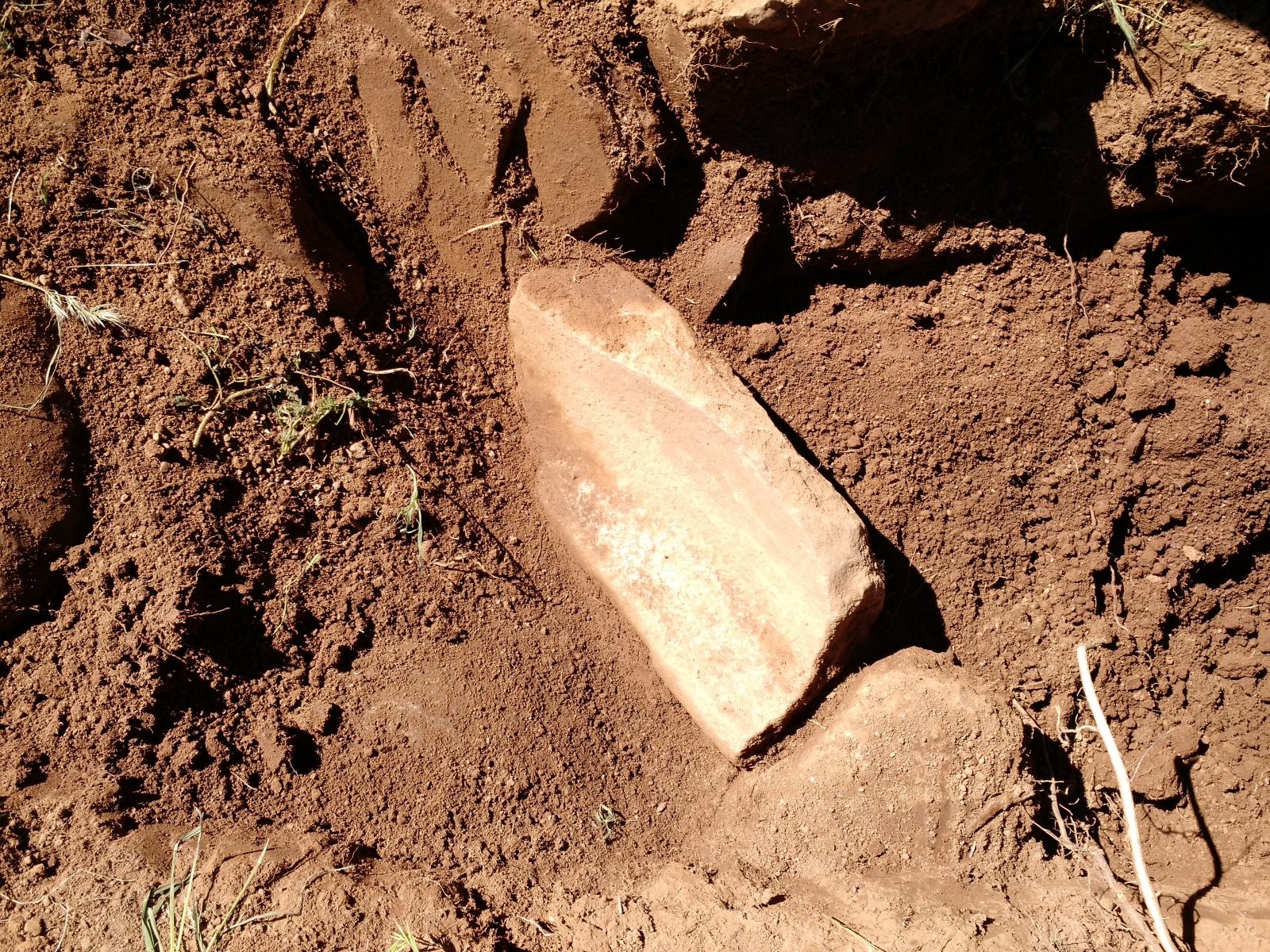 Metate from granary.